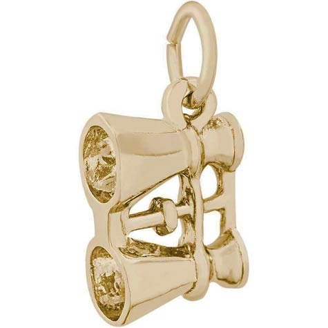 Gold Plate Binoculars Charm by Rembrandt Charms