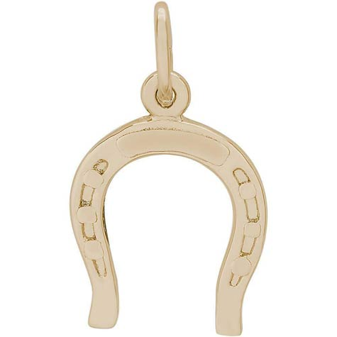 14K Gold Horseshoe Charm by Rembrandt Charms
