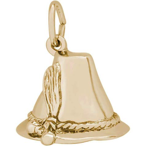 Gold Plate Tyrol Hat Charm by Rembrandt Charms
