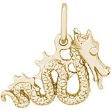 10K Gold Serpent Dragon Charm by Rembrandt Charms