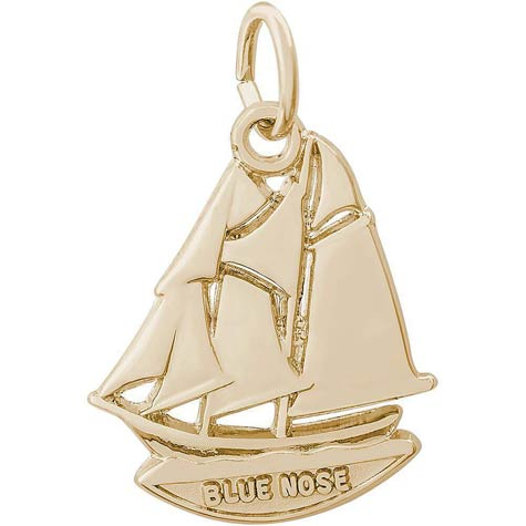 14K Gold Blue Nose Nova Scotia Charm by Rembrandt Charms
