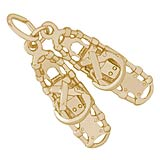 Gold Plated Snow Shoes Charm by Rembrandt Charms