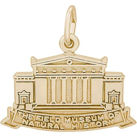 14K Gold Field Museum Charm by Rembrandt Charms