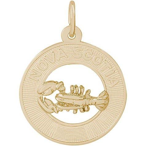 14K Gold Nova Scotia Charm by Rembrandt Charms