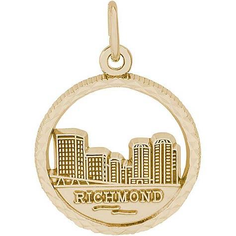 14K Gold Richmond Skyline Charm by Rembrandt Charms