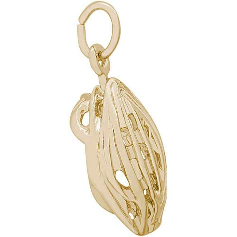 14K Gold Bicycle Helmet Charm by Rembrandt Charms