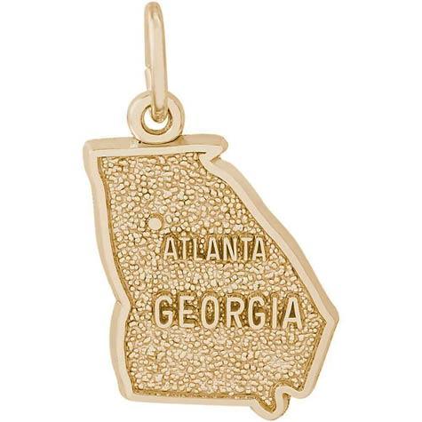14k Gold Atlanta, Georgia Charm by Rembrandt Charms