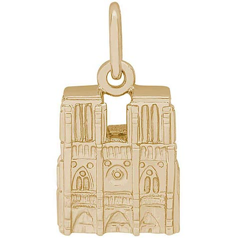 14K Gold Notre Dame Cathedral Charm by Rembrandt Charms
