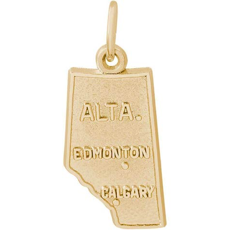14K Gold Alberta, Canada Charm by Rembrandt Charms