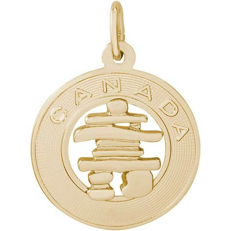 14K Gold Canada Inukshuk Charm by Rembrandt Charms