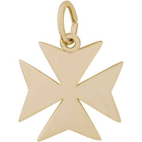14K Gold Maltese Cross Charm by Rembrandt Charms
