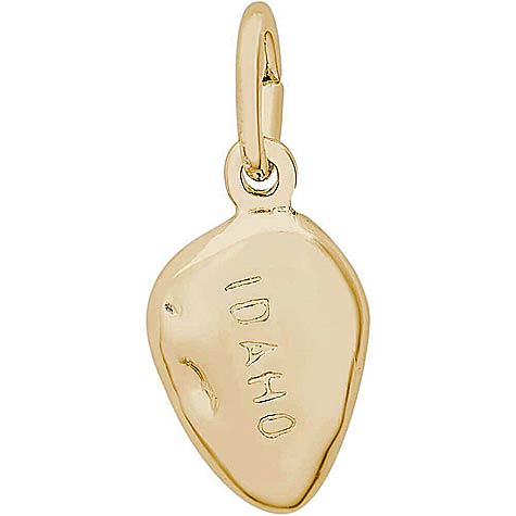 14K Gold Idaho Potato Charm by Rembrandt Charms
