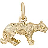 Gold Plate Cougar Charm by Rembrandt Charms