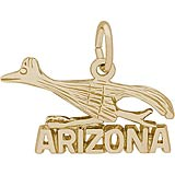 Gold Plated Arizona Road Runner Charm by Rembrandt Charms