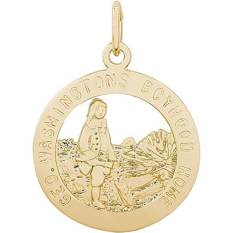 14K Gold George Washington's Charm by Rembrandt Charms