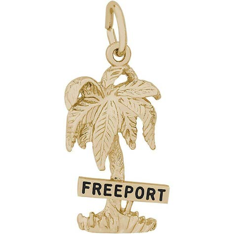 14K Gold Freeport Palm Tree Charm by Rembrandt Charms