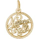 Gold Plate Niagara Falls Faceted Charm by Rembrandt Charms