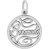 14K White Gold Bermuda Faceted Charm by Rembrandt Charms