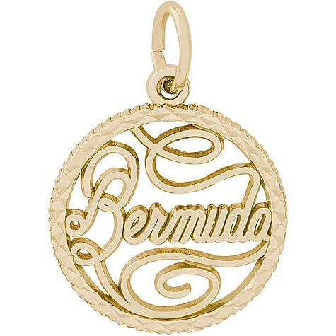 14K Gold Bermuda Faceted Charm by Rembrandt Charms