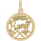 Gold Plate Banff, Canada Faceted Charm by Rembrandt Charms