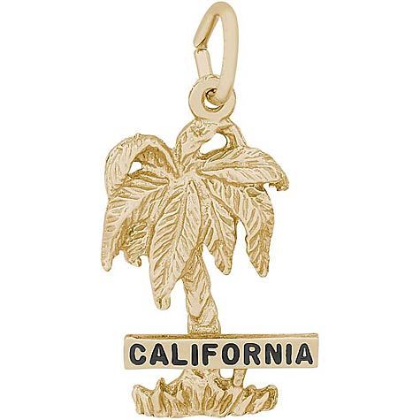 14k Gold California Palm Tree Charm by Rembrandt Charms