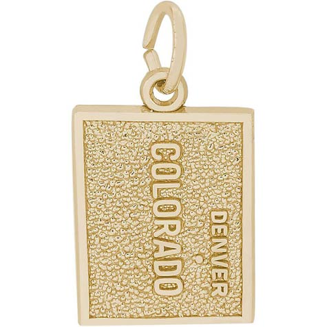 14K Gold Denver, Colorado Map Charm by Rembrandt Charms