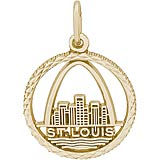 14K Gold St. Louis Skyline Faceted Charm by Rembrandt Charms