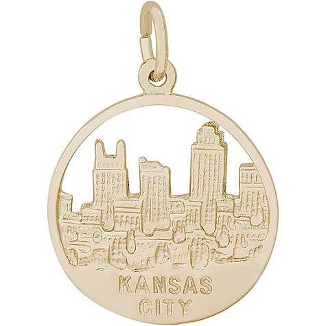 14K Gold Kansas City Skyline Charm by Rembrandt Charms
