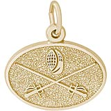 14K Gold Fencing Charm by Rembrandt Charms