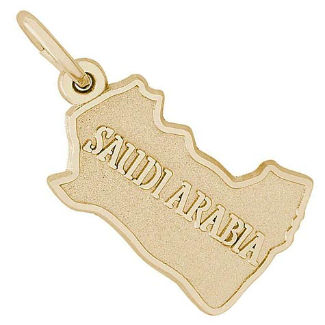 14K Gold Saudi Arabia Charm by Rembrandt Charms