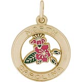 14K Gold North Carolina Azalea Charm by Rembrandt Charms