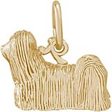 14K Gold Lhasa Apso Dog Charm by Rembrandt Charms