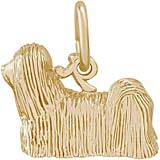 Gold Plated Shih Tzu Dog Charm by Rembrandt Charms