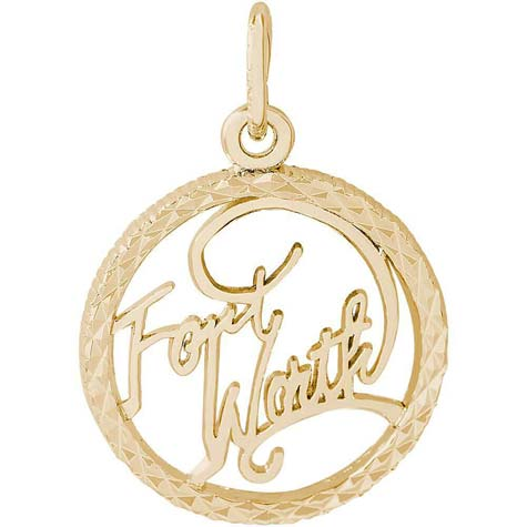 14K Gold Fort Worth Faceted Charm by Rembrandt Charms
