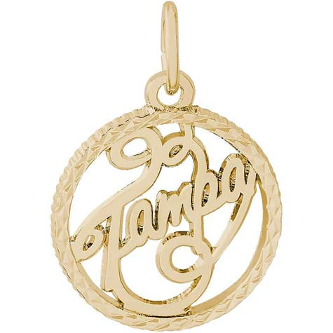 14K Gold Tampa Faceted Charm by Rembrandt Charms