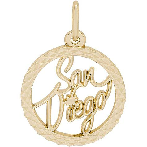 14K Gold San Diego Faceted Charm by Rembrandt Charms
