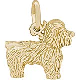 Gold Plate Bichon Frise Dog Charm by Rembrandt Charms