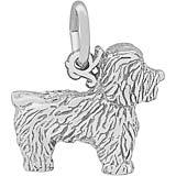14K White Gold Bichon Frise Dog Charm by Rembrandt Charms