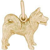 14K Gold Akita Charm by Rembrandt Charms