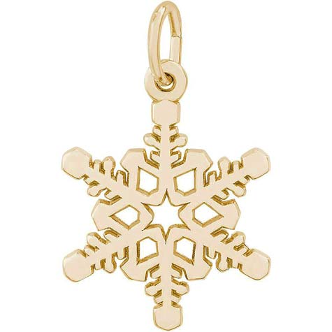 14K Gold Snowflake Charm by Rembrandt Charms