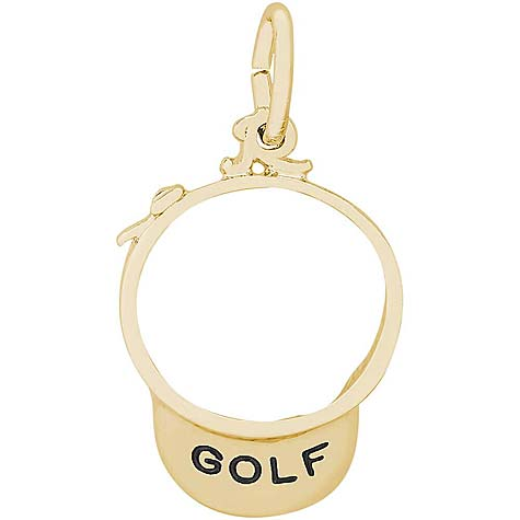 14K Gold Golf Visor Charm by Rembrandt Charms