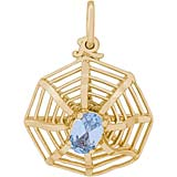 10K Gold Spider Web Charm by Rembrandt Charms