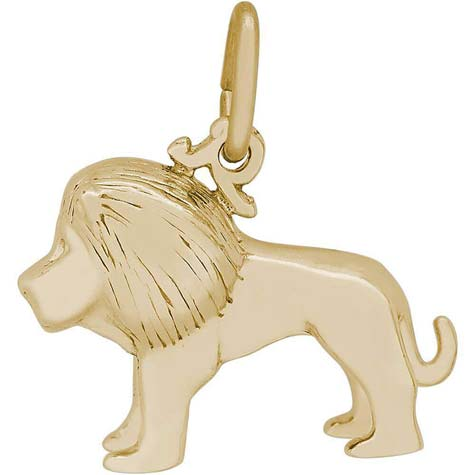 14K Gold Small Lion Charm by Rembrandt Charms