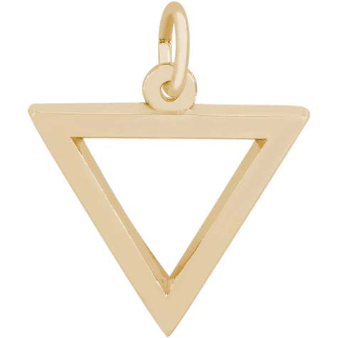 14K Gold Triangle Trinity Charm by Rembrandt Charms