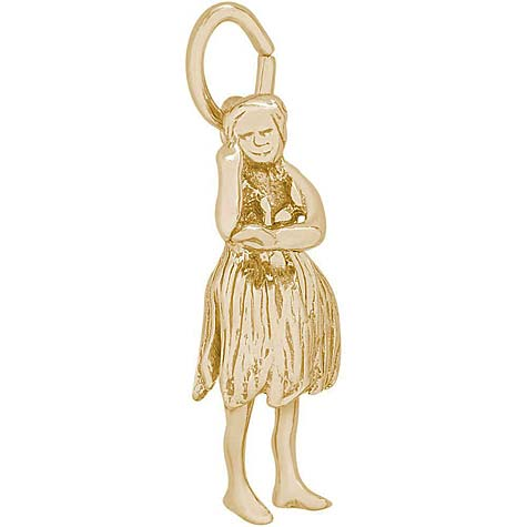 14K Gold Hawaiian Dancer Charm by Rembrandt Charms