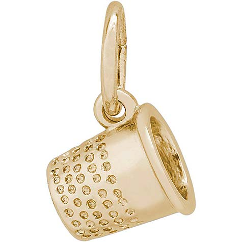 14K Gold Thimble Accent Charm by Rembrandt Charms