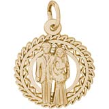 10K Gold Bride and Groom Charm by Rembrandt Charms