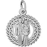 14K White Gold Bride and Groom Charm by Rembrandt Charms