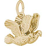 14K Gold Turtle Doves Bird Charm by Rembrandt Charms