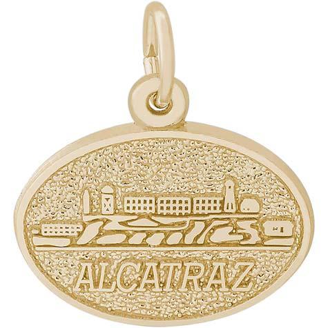 14K Gold Alcatraz Island Charm by Rembrandt Charms